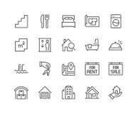 Ligne graphismes d'immeubles Images libres de droits