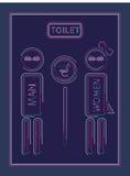 Ligne homme et femmes de toilette d'icône de conception illustration libre de droits