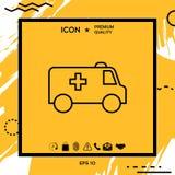 Ligne icône d'ambulance illustration stock