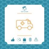 Ligne icône d'ambulance illustration libre de droits