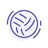 Ligne icône de boule le ski d'illustration de matériel de coloration folâtre l'eau Signe de Web de vecteur, bouton Photo stock