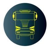 Ligne icône de conception de Front View Truck à l'arrière-plan foncé bleu Photo libre de droits