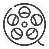 Ligne icône de petit pain de film