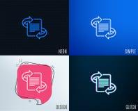 Ligne icône de vente Page avec le signe de flèches illustration stock