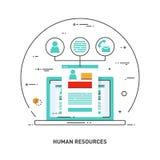 Ligne icône pour les ressources humaines, recrutement, gestion d'heure, carrière de concept Photographie stock