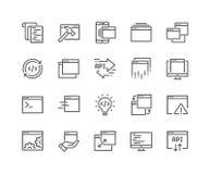 Ligne icônes d'application illustration stock