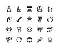 Ligne icônes de beauté illustration de vecteur