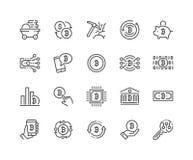 Ligne icônes de Bitcoin illustration libre de droits