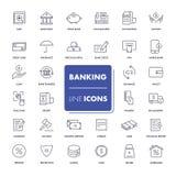 Ligne icônes réglées banking Photographie stock libre de droits