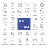 Ligne icônes réglées mail illustration libre de droits