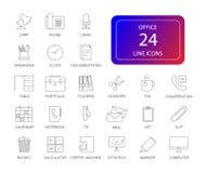 Ligne icônes réglées Paquet de bureau illustration de vecteur