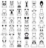 Ligne icône d'animaux Photo stock