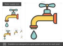 Ligne icône d'approvisionnement en eau illustration libre de droits