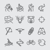 Ligne icône d'aventure de porte Photos libres de droits