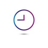 Ligne icône d'horloge loupe Vecteur illustration de vecteur