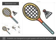 Ligne icône de badminton Image libre de droits
