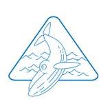 ligne icône de baleine de style Image libre de droits