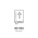 Ligne icône de bible illustration de vecteur