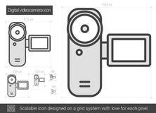 Ligne icône de caméra vidéo de Digital Image libre de droits