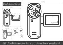Ligne icône de caméra vidéo de Digital Images libres de droits