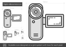 Ligne icône de caméra vidéo de Digital Photo stock