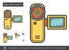 Ligne icône de caméra vidéo de Digital Images stock