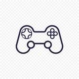 Ligne icône de contrôleur de jeu Image stock