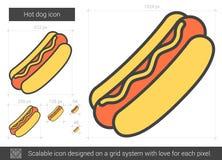 Ligne icône de hot-dog Image libre de droits