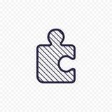 Ligne icône de jeu de puzzle Photos libres de droits