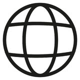 Ligne icône de la terre de vecteur Photos stock