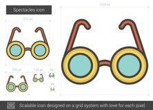 Ligne icône de lunettes Image libre de droits