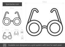 Ligne icône de lunettes Photo libre de droits