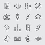 Ligne icône de musique Image libre de droits