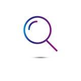 Ligne icône de recherche loupe Vecteur illustration de vecteur