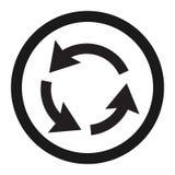 Ligne icône de signe de circulation de rond point illustration de vecteur