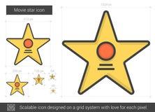 Ligne icône de star de cinéma Images stock