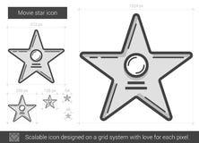 Ligne icône de star de cinéma Image stock