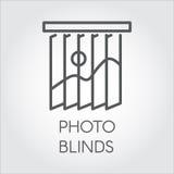 Ligne icône des abat-jour de photo Logo simple d'ensemble pour différents besoins de conception Concept de décor de Chambre ou de Images libres de droits