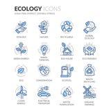 Ligne icônes d'écologie