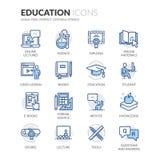 Ligne icônes d'éducation illustration de vecteur