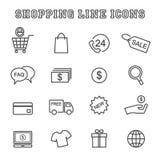 Ligne icônes d'achats illustration de vecteur