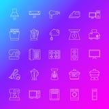 Ligne icônes d'appareil électroménager Image stock