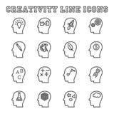 Ligne icônes de créativité Images libres de droits