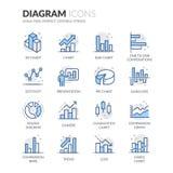 Ligne icônes de diagramme illustration de vecteur