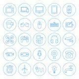 Ligne icônes de ménage de cercle Image libre de droits
