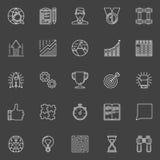 Ligne icônes de motivation et de succès Images stock