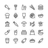 Ligne icônes 13 de nourriture de vecteur illustration stock