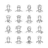Ligne icônes de professions Photo stock