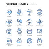 Ligne icônes de réalité virtuelle illustration libre de droits