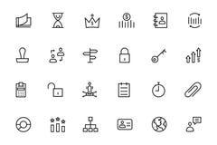 Ligne icônes 4 de vecteur d'affaires et de finances Image stock